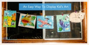 A Simple Way To Display Kid's Art